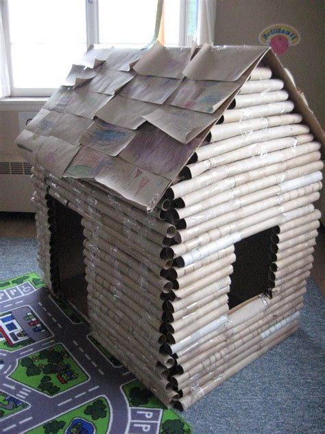 How Do You Make A Paper House - 25 best ideas about cardboard crafts on