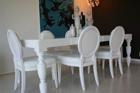 dining room table white www roomservicestore com hollywood dining table in