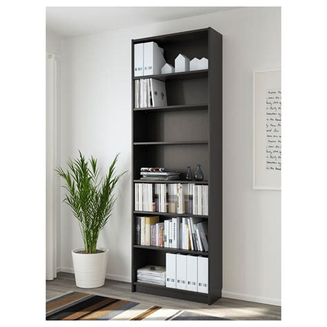 billy bookcase black brown 80x237x28 cm ikea