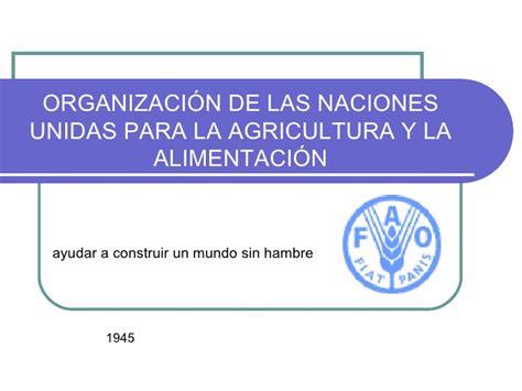 organizacin de las naciones unidas para la agricultura y historia fao organizacin de las naciones unidas para