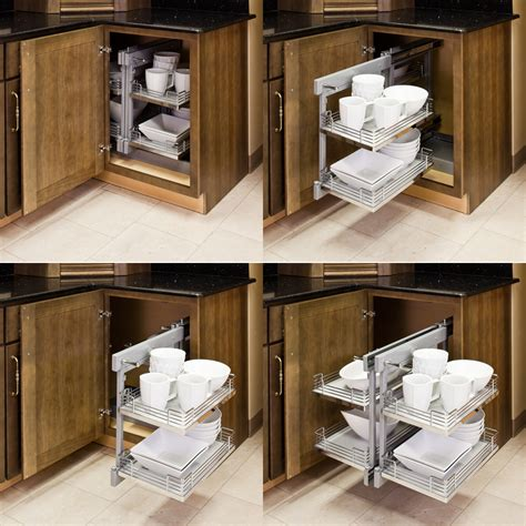 Blind Corner Kitchen Cabinet Organizers Blind Corner Organizers Get Use Out Of The Empty Wasted Space In Your Blind Corner Cabinets