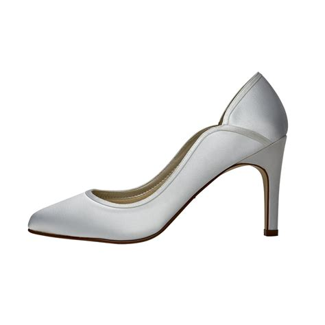 white satin shoes rainbow club white satin court shoes shoes co uk