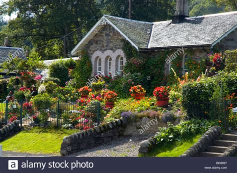 Luss Cottages by Loch Lomond Luss Cottage Garden Stock Photo Royalty