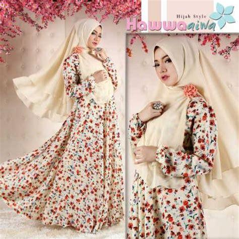 Dress Maxi Abella Dress Muslimah Gamis Abella Baju Muslimah Baju Murah flavie baju muslim gamis modern