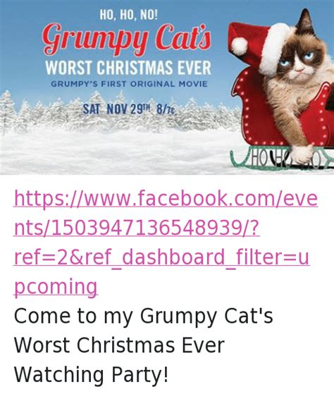 facebook ho 25 best memes about grumpy cat christmas movies party