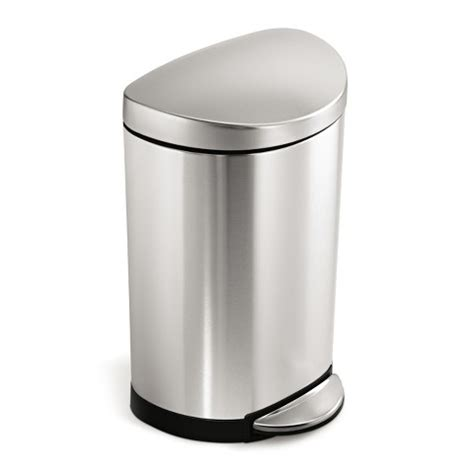 Stainless Steel Kitchen Trash Can Target by Simplehuman 10 Liter Semi Step Trash Can I Target
