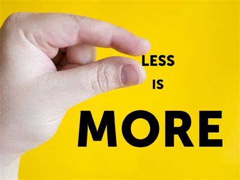 Less Is More by Less Is More