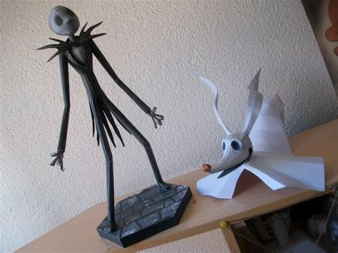 Skellington Papercraft - papercraft skellington and zero by thebutcher59 on