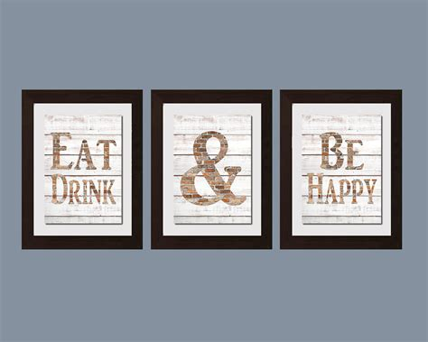 Wall Decor For The Kitchen Modern Kitchen Wall Shabby Chic Wall Eat And Drink