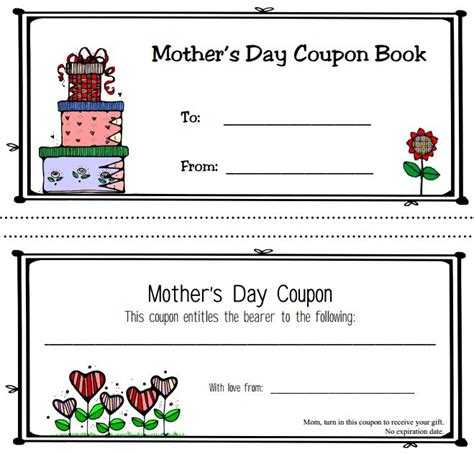 coupon book template mothers day coupon book 4 gif 659 215 632 children s