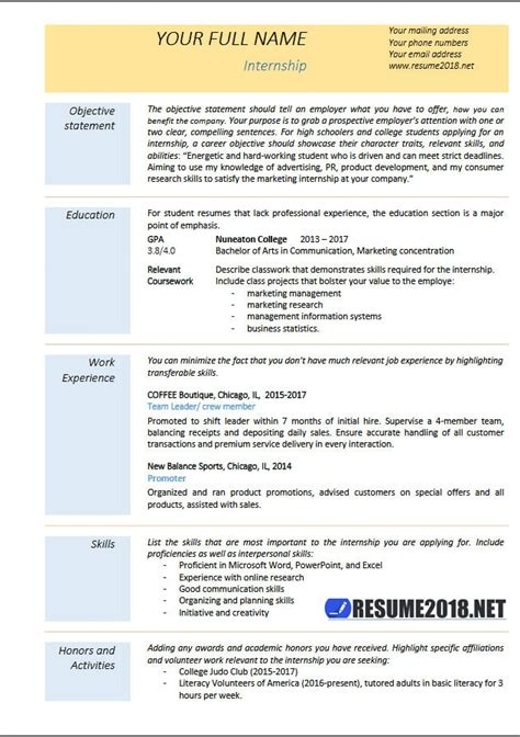 resume templates guide jobscan 21 basic resumes exles for students internships cpa resume