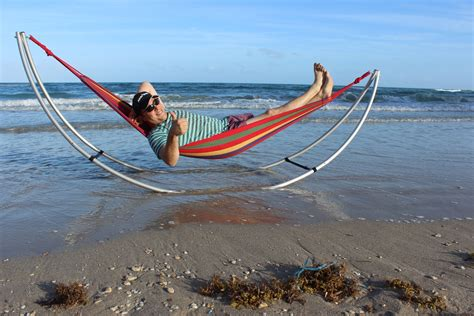 folding beach hammock portable foldable hammock for beach