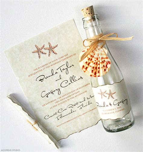 wedding invite message in a bottle 21 bottle wedding invitation ideas mospens studio