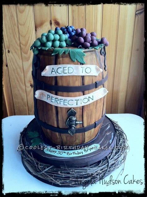 barrel cake coolest wine barrel cake