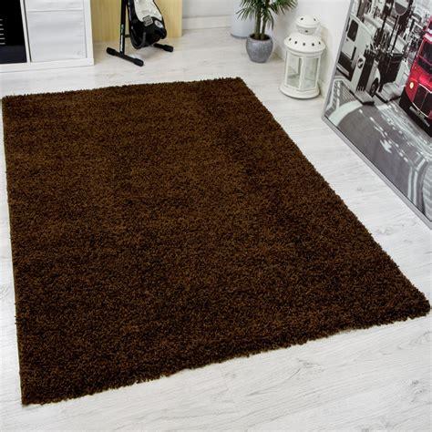 teppich hochflor braun hochflor shaggy teppich modern wohnzimmer teppich unifarbe
