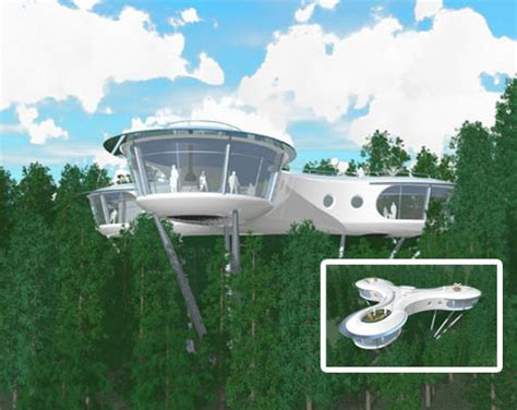 creative futuristic tree house design urbanist