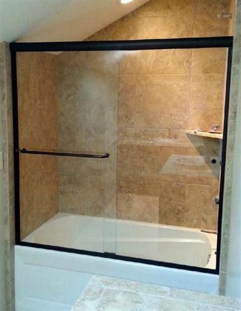 rubbed bronze shower door frame the rock glass mirror co 928 527 3333 showers doors
