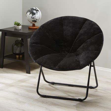 plush saucer chair mainstays folding plush saucer chair colors