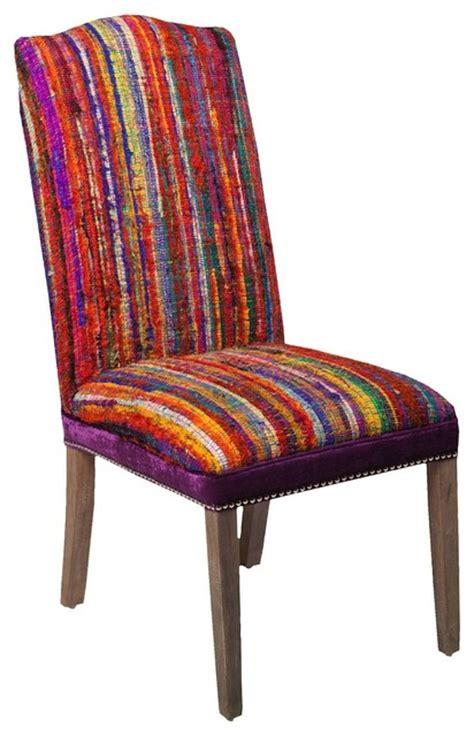 contemporary multi striped red purple accent