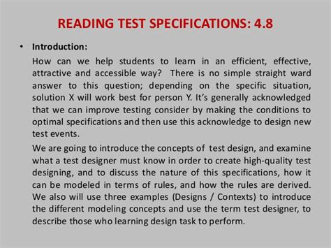 Second Hurt Heri Putra reading test specifications assignment 01 ppt