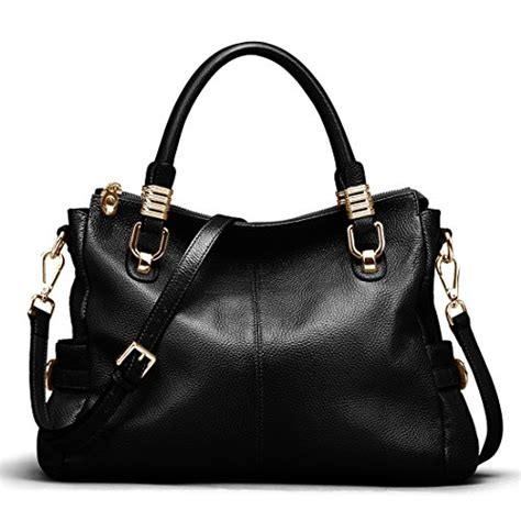 ainimoer womens genuine leather vintage tote shoulder bag