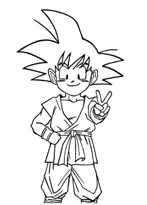 imagenes de goku gt para colorear dibujos para pintar de dragon ball z goku archivos