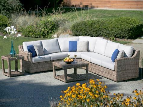 Outdoor Wicker Sectional Sofa Sunset West Coronado 6 Piece Outdoor Furniture Sectionals