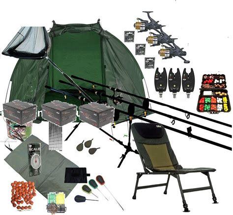 Capung Set 3 rod mega carp fishing set up kit rods reels chair alarms