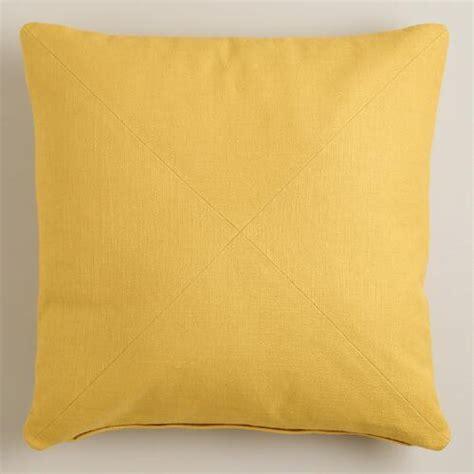yellow herringbone cotton throw pillow world market