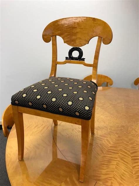 swedish biedermeier dining suite  chairs extension