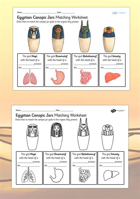 ks2 themes and conventions ks2 ancient egypt canopic jars organs worksheet