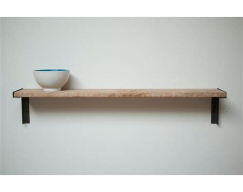 stacked wood kitchen shelves with iron brackets minimal wall mount shelf reclaimed old growth wood an