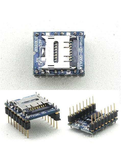 Micro Sd Bitcom Jember wtv020 sd voice module wtv020sd module jual arduino jual arduino jogja toko