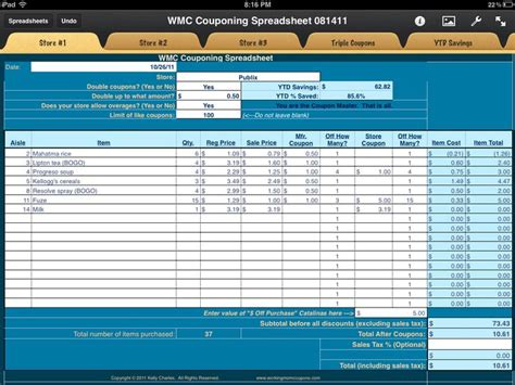 Coupon Savings Spreadsheet by 17 Best Ideas About Coupon Spreadsheet On