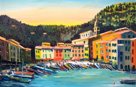 cing giardini naxos paintings of cinque terre portofino christian seebauer