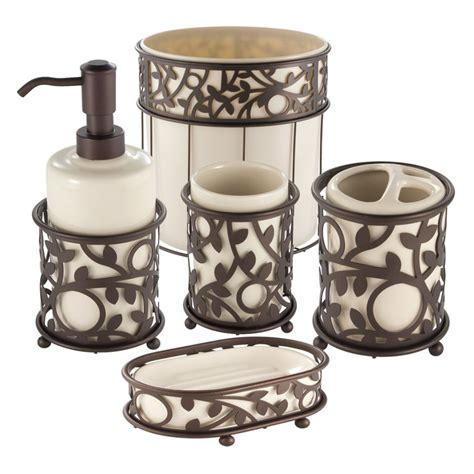 Interdesign Vine Vanilla And Bronze Bath Accessories Bathroom Accessories Bronze