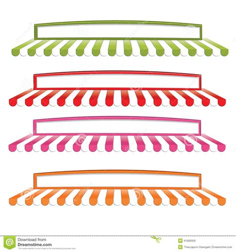 Awnings For Business Awning 1 Stock Vector Image 41956059