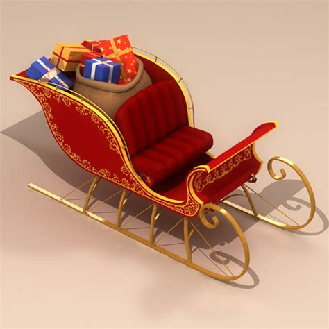 santa claus sleigh 3d model buy santa claus sleigh 3d