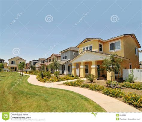 row of new homes in arizona stock photos image 5648303