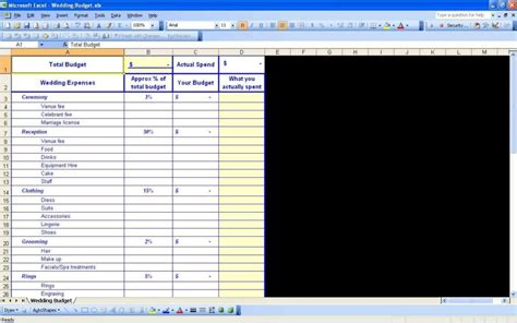 Wedding Planning Excel Spreadsheet by Wedding Planning Spreadsheet Template Event Planning