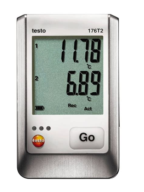 testo i a testo 176 t2 pt100 two channel logger temperature