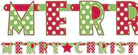 Christmas Banners Party Delights Merry Letter Banner Template