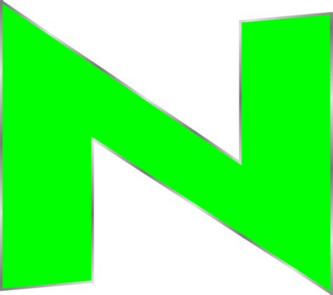n clipart capital green n clip at clker vector clip