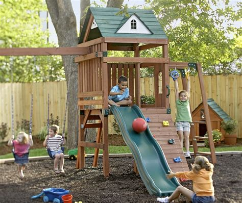 kinderspielplatz garten backyard play area traditional other