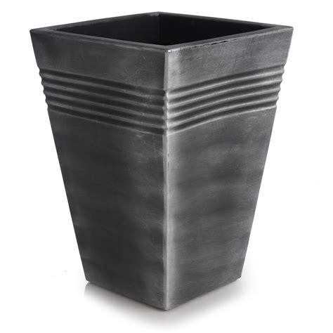 square metal planter wilko planter square madrid gun metal 35cm at wilko