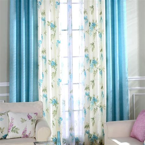 curtains botanical print blue and white botanical print linen country curtains for