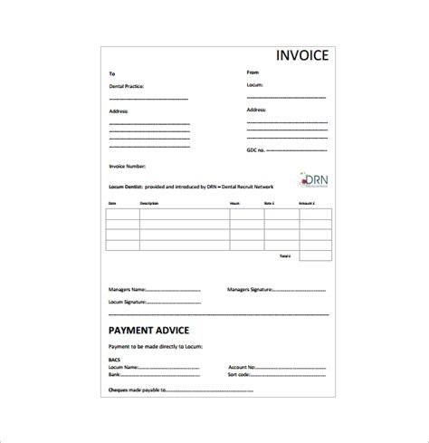 dental invoice template dental invoice template hardhost info