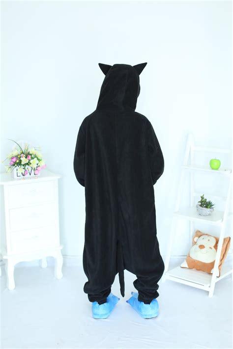Pajamas Cat Black Pp aliexpress koop midnight cat onesies black cat pajamas for unisex pajamas