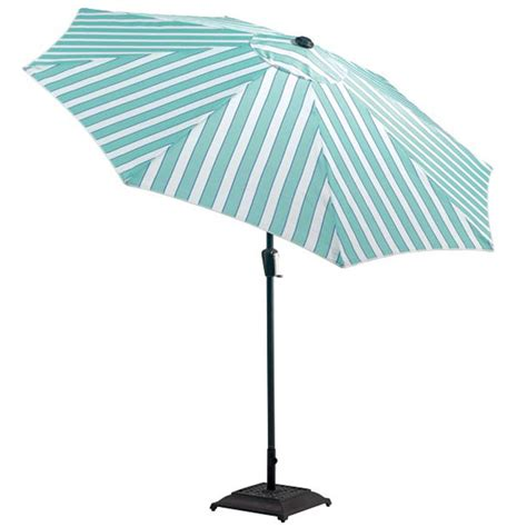 Blue And White Striped Patio Umbrella Blue And White Striped Patio Umbrella 9 Blue And White Stripe Market Umbrella With Wood Pole