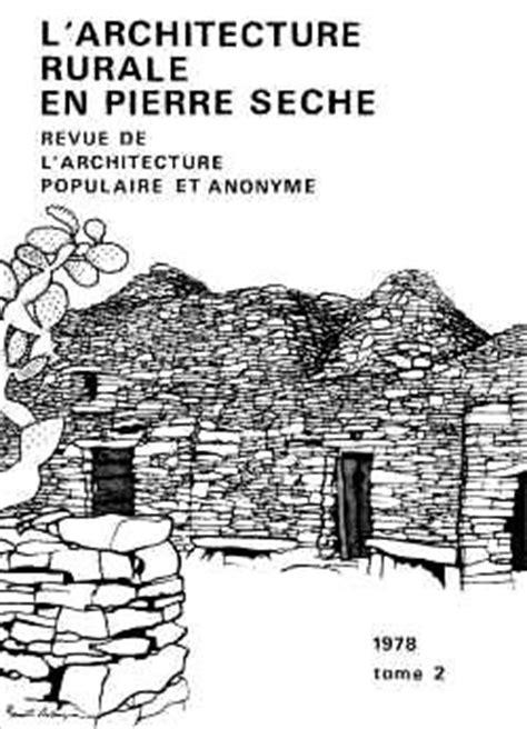Série Tomes annuels de L'architecture vernaculaire